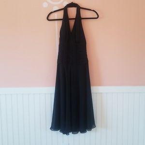 Worn once Carmen Marc Volvo black halter dress